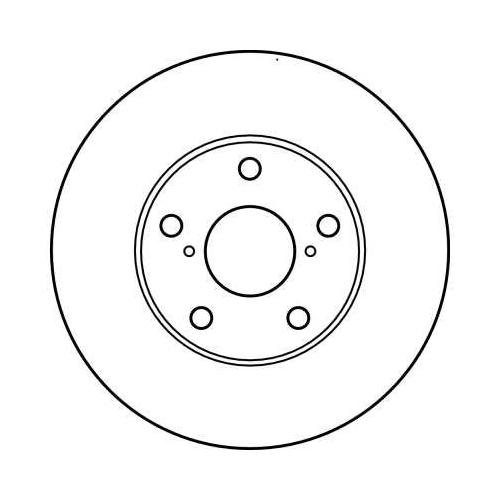 Brake Disc TRW DF4161 TOYOTA