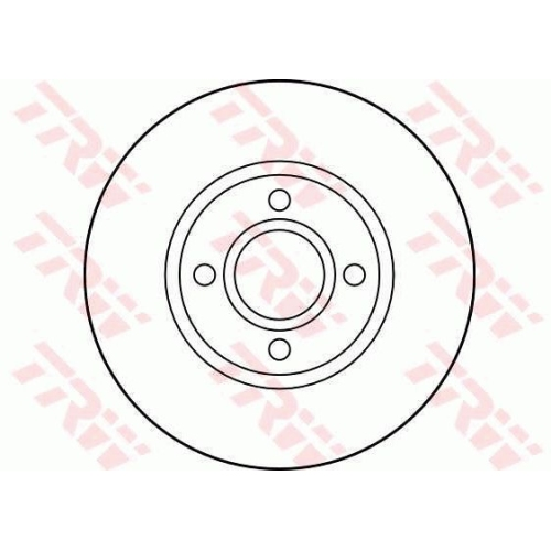 TRW Brake Disc DF2751