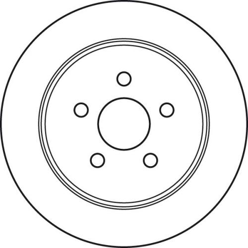 Brake Disc TRW DF4533 CHRYSLER DODGE