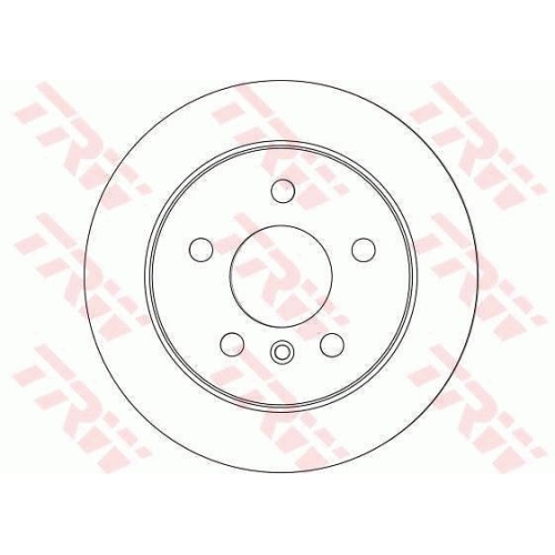 Brake Disc TRW DF4453 MERCEDES-BENZ