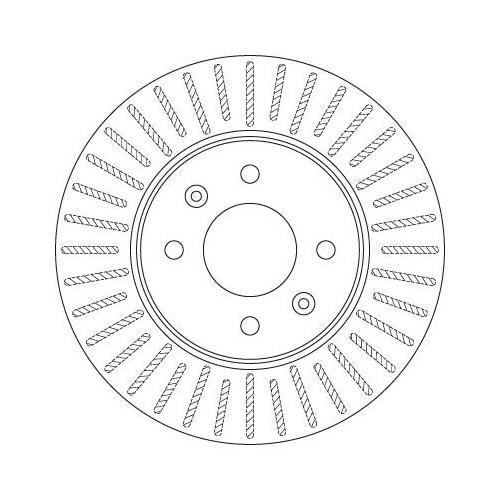 Brake Disc TRW DF6198 HYUNDAI KIA