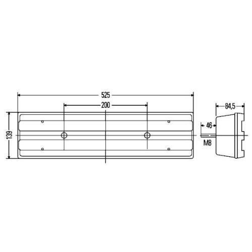 Combination Rearlight HELLA 2VD 007 500-111 MERCEDES-BENZ SCANIA LANGENDORF DOLL