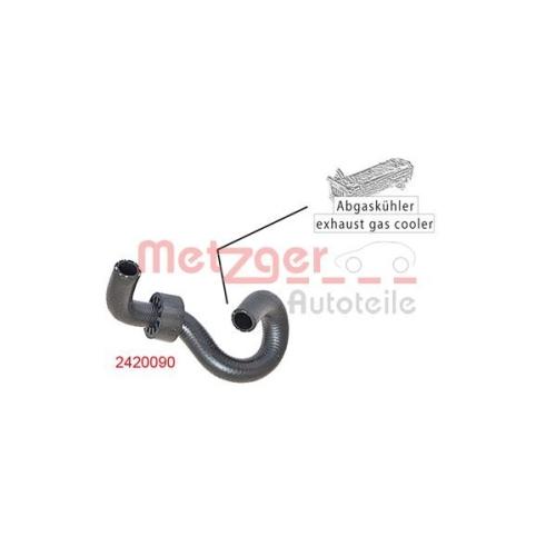 Radiator Hose METZGER 2420090 FORD