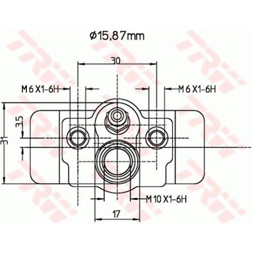 Wheel Brake Cylinder TRW BWB174 SUZUKI