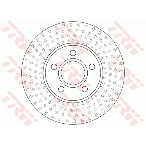 Brake Disc TRW DF6536 VOLVO