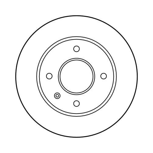 Brake Disc TRW DF1649 FORD AC TVR PANTHER