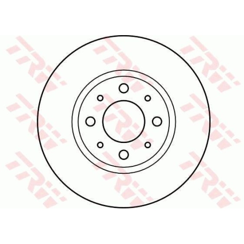 Brake Disc TRW DF2621 VOLVO