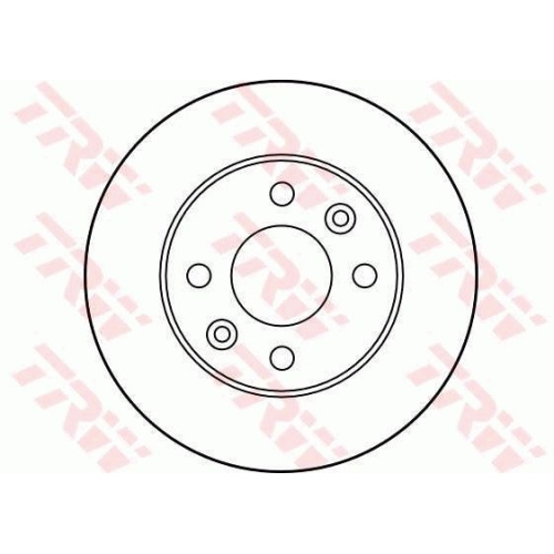 Brake Disc TRW DF1016 NISSAN RENAULT