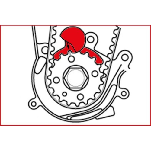 KS TOOLS Engine Timing Tool Set for VAG, 6 pcs 400.2700