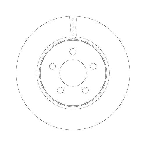 Brake Disc TRW DF6264 DODGE JEEP