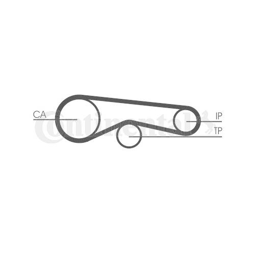 Timing Belt CONTINENTAL CTAM CT1094 AUDI VW