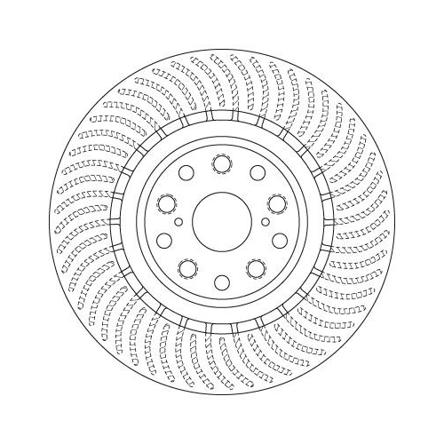 Brake Disc TRW DF6489S LEXUS