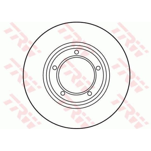 TRW Brake Disc DF1833