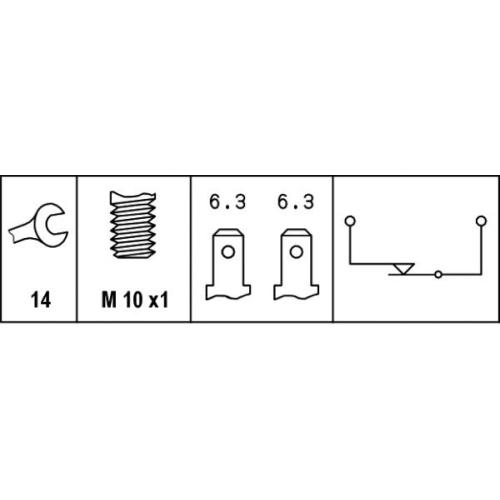 HELLA Brake Light Switch 6DF 007 362-001