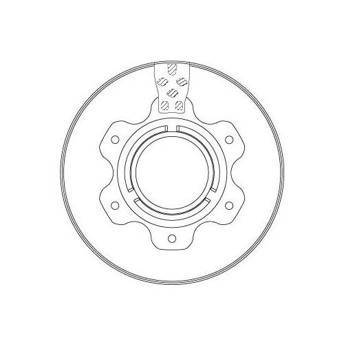 Brake Disc TRW DF6743S MERCEDES-BENZ