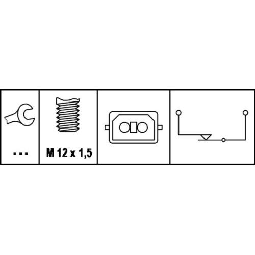 HELLA Brake Light Switch 6DD 008 622-161