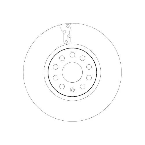 Brake Disc TRW DF6695S SEAT SKODA VW