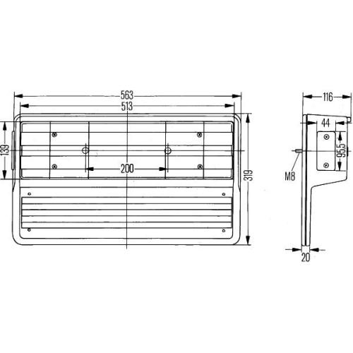 Combination Rearlight HELLA 2VD 005 300-551 DAF MERCEDES-BENZ SCANIA LIEBHERR