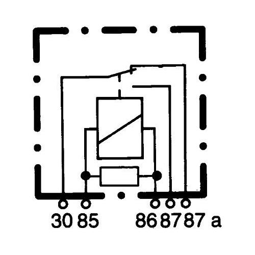 Relay, main current HELLA 4RD 007 903-011 FENDT STILL SCHWARZMÜLLER