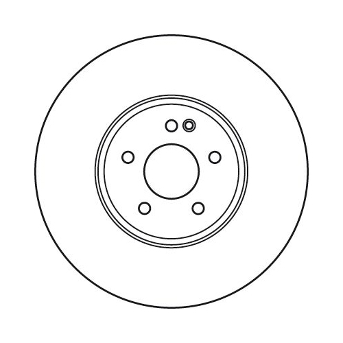 Brake Disc TRW DF6074S CHRYSLER MERCEDES-BENZ
