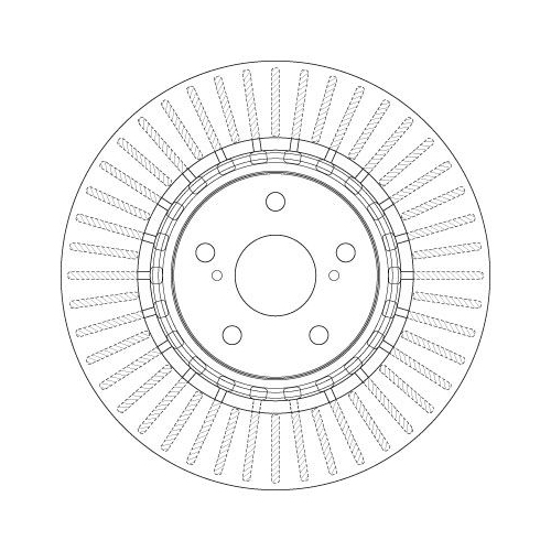 Brake Disc TRW DF6265 TOYOTA LEXUS