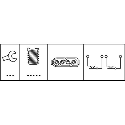 HELLA Brake Light Switch 6DF 007 666-001