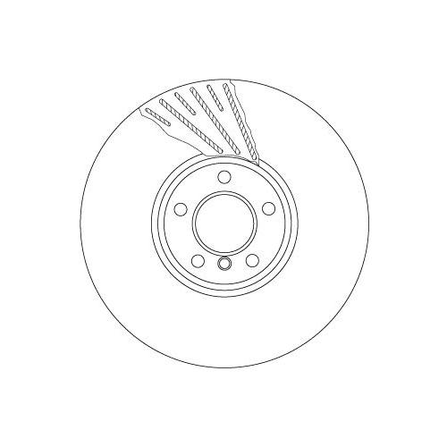 TRW Brake Disc DF6623S