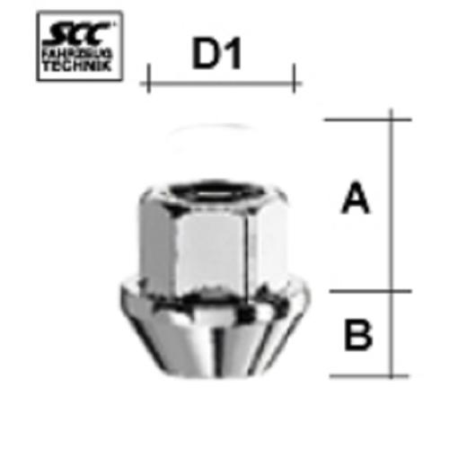 SCC Fahrzeugtechnik WHEEL BOLT M12X1.25. Articel nr.: M1225KEOS