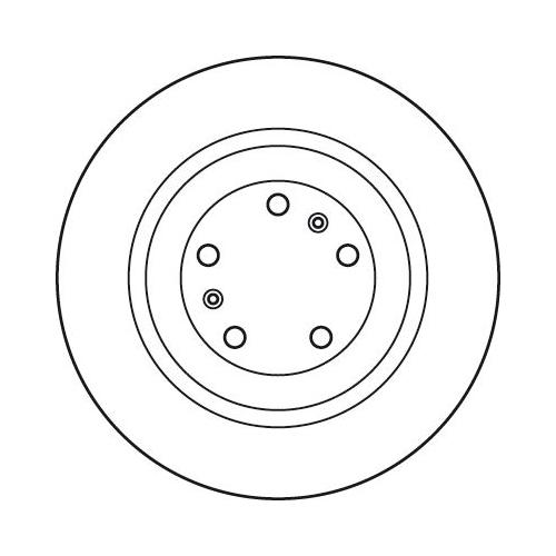 Brake Disc TRW DF4902S AUDI VW BENTLEY