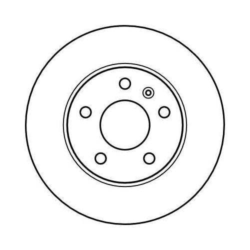 Brake Disc TRW DF4051 OPEL VAUXHALL CHEVROLET