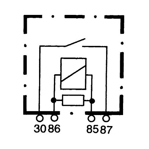 Relay, main current HELLA 4RA 007 793-041 TOYOTA CASE IH MASSEY FERGUSON LANDINI