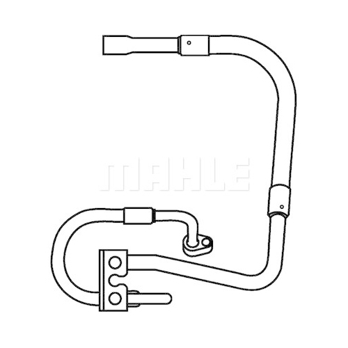 High-/Low Pressure Line, air conditioning MAHLE AP 79 000P FORD