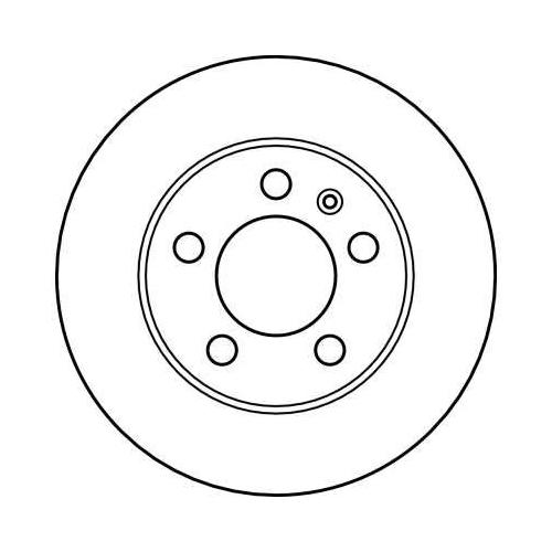 Brake Disc TRW DF4052 AUDI SKODA VW