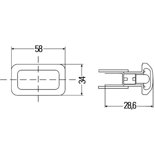 Auxiliary Indicator HELLA 2BM 003 647-021 AEBI AUDI VAN HOOL VW CLAAS HAKO
