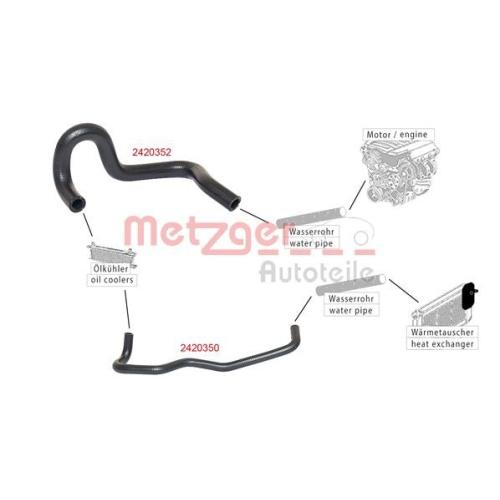 Radiator Hose METZGER 2420352 FIAT