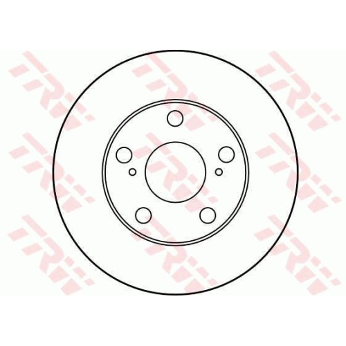 Brake Disc TRW DF1430 TOYOTA
