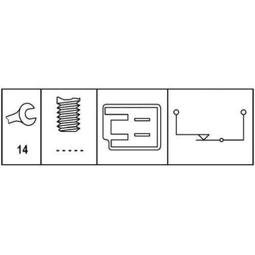 HELLA Brake Light Switch 6DD 008 622-571
