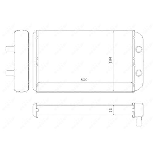 Wärmetauscher, Innenraumheizung NRF 53562 CITROËN FIAT PEUGEOT