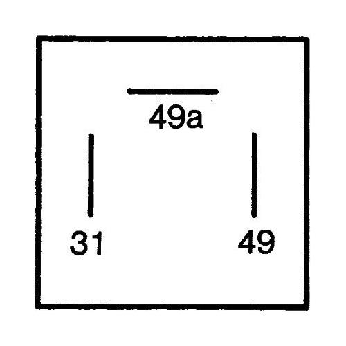 Flasher Unit HELLA 4DB 003 750-711 AEBI AUDI DAF FORD MERCEDES-BENZ SEAT SKODA
