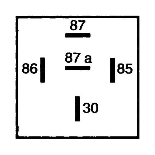 Relay, main current HELLA 4RD 007 794-041 AEBI SAME DEUTZ-FAHR GOLDHOFER HYSTER