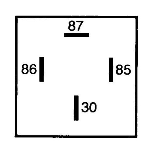 Relay, main current HELLA 4RA 007 791-021 MACK FENDT