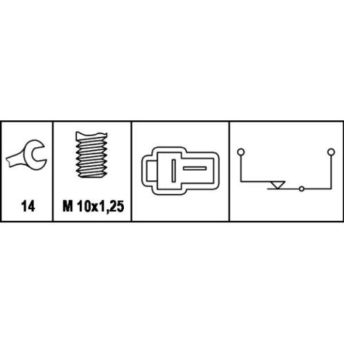 HELLA Brake Light Switch 6DD 008 622-421