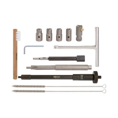 KS TOOLS Injector density seat cleaningset,13 pcs 152.1170