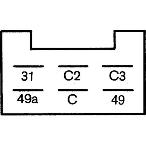 Flasher Unit HELLA 4DN 008 768-151 SAME DEUTZ-FAHR