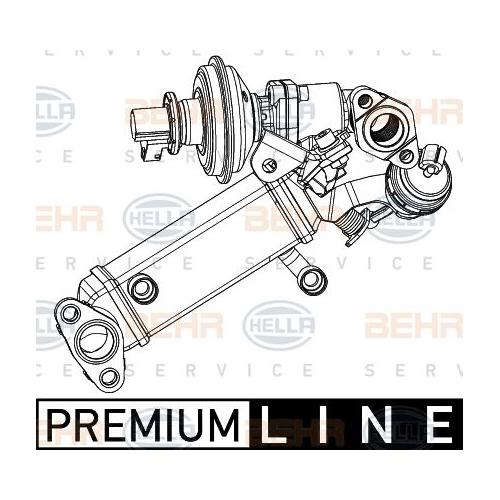 Cooler, exhaust gas recirculation HELLA 8ME 376 745-391 BMW