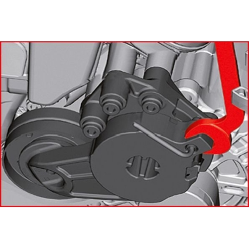 KS TOOLS V belt and timing belt wrench for VAG 400.4300