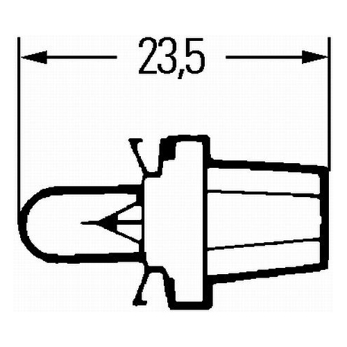 Bulb, instrument lighting HELLA 8GA 007 997-031 STANDARD CLAAS FENDT ATLAS COPCO