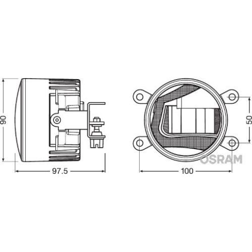 Fog lamps OSRAM LED incl. Daytime running lights and cornering lights LED (LEDFOG102)