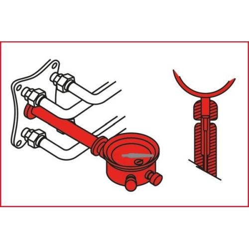 KS TOOLS Engine Timing Tool Set for VAG, 7 pcs Audi A3, VW 400.2200