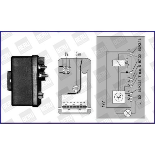 BERU Control Unit, glow plug system GR054
